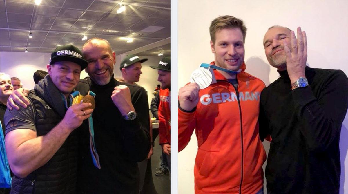 Dr. Heinzinger: Verbandsarzt die Mannschaften des Bob- und Schlittenverbands Deutschlands mit Francesco Friedrich und Nico Walter