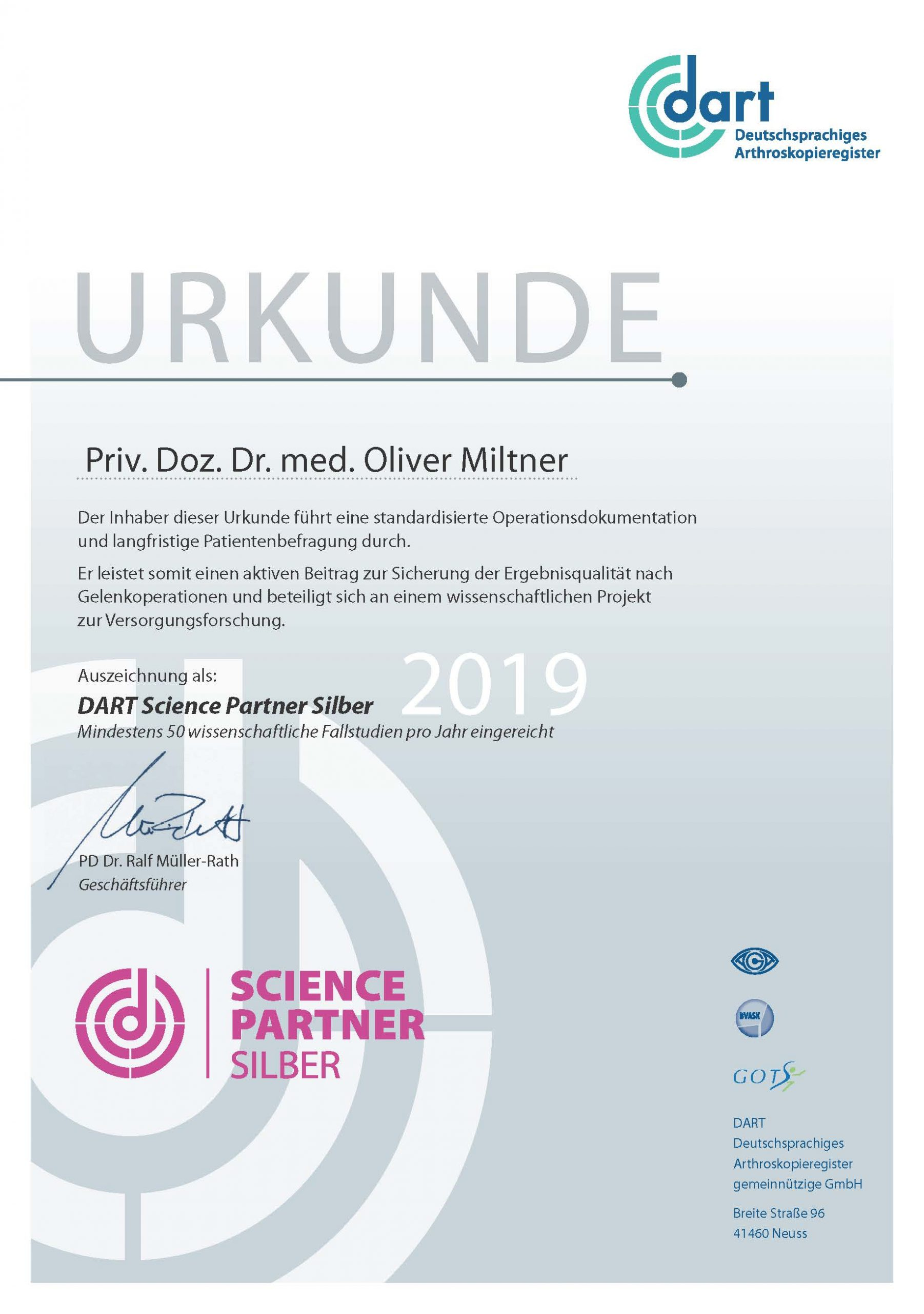 Science Partner Silber 2019